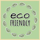 Eco friendly poster. Ecological and zero-waste motivation. Go green and plastic-free living stock illustration