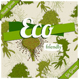 Eco friendly poster. Royalty Free Stock Images