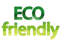 Eco friendly product logo. royalty free stock photography