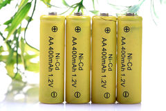 Eco friendly rechargeable batteries Stock Images