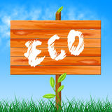 Eco Friendly Represents Go Green And Eco-Friendly Royalty Free Stock Photography