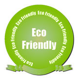 Eco Friendly Seal. A green gradient seal with Eco Friendly text and ribbon Royalty Free Stock Photo