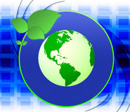 Eco Friendly Shows Earth Day And Eco-Friendly Royalty Free Stock Photography