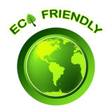 Eco Friendly Shows Earth Day And Environment Royalty Free Stock Photography