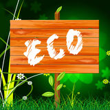 Eco Friendly Shows Go Green And Conservation Stock Photo