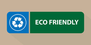 Eco friendly sign Royalty Free Stock Image