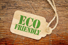 Eco friendly sign - paper price tag Stock Photo