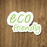 Eco friendly sign Royalty Free Stock Photo