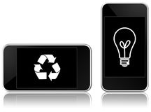 Eco-friendly smart phone. Illustration of eco-friendly smart phone royalty free illustration
