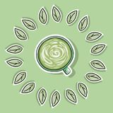 Eco friendly spa poster with green coffee. Go green living royalty free illustration