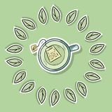 Eco friendly spa poster with green tea. Go green living royalty free illustration