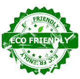Eco friendly stamp. Illustration of a green Eco friendly stamp with a white background stock photo