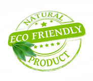 Eco friendly stamp Stock Photography