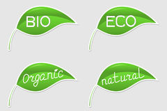 Eco friendly stickers Royalty Free Stock Images