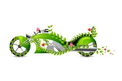 Eco friendly style Motor Bike Stock Photography
