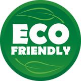 ECO FRIENDLY SYMBOL. A symbol to show that a product or service is eco friendly/green Royalty Free Stock Photo