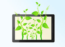 Eco friendly tablet pc Stock Image