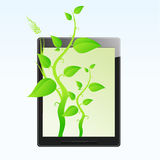 Eco friendly tablet pc Royalty Free Stock Photo