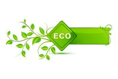 Eco Friendly Tag Royalty Free Stock Photography