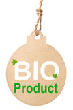Eco friendly tag, Bio product. Stock Image