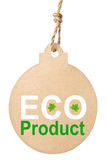 Eco friendly tag, eco product Stock Image
