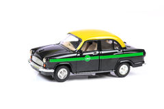 Eco friendly taxi Stock Image