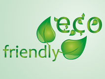 Eco friendly text illustration Stock Photography