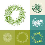 Eco friendly too complex ring elements Royalty Free Stock Image