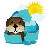 Sea Otter Icon Stock Image
