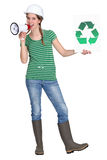 Eco-friendly tradeswoman Royalty Free Stock Photos