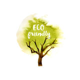Eco friendly tree emblem Stock Photos