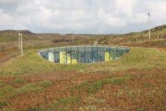 Eco Friendly Underground House. Eco house built underground at Druidstone, Pembrokeshire, Wales Royalty Free Stock Images