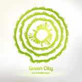 Eco friendly urban logo Stock Photo