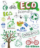 Eco friendly vector set Stock Photos