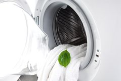 Eco friendly washing machine Royalty Free Stock Photo
