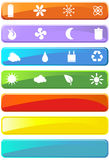 Eco friendly web buttons. A set of ecologically friendly web buttons Stock Images