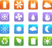 Eco friendly web buttons - square Royalty Free Stock Image