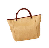 Eco friendly wicker shopping bag Royalty Free Stock Image
