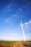 Eco friendly windpower Royalty Free Stock Photos