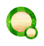 Eco friendly wooden icon for web design Stock Photos