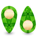 Eco friendly wooden icon for web design Royalty Free Stock Image