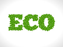 Eco friendly word FRESH made of green vector leafs. Eco text concept Stock Images