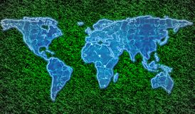 eco-friendly world map Stock Photo