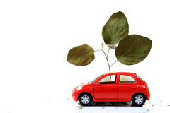 Eco friendy car. Concept image of eco friendy car isolated on white background Royalty Free Stock Photos