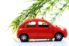 Eco friendy car. Concept image of eco friendy car isolated on white background Stock Photo