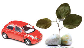 Eco friendy car Stock Photography