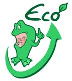 Eco frog Royalty Free Stock Photography