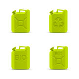 Eco fuel concept. Green canisters Stock Images
