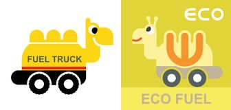 Eco fuel - funny sign Royalty Free Stock Image