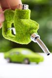 Eco fuel nozzle Stock Photo